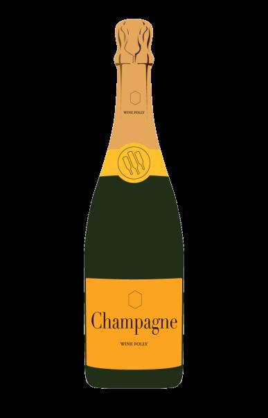 champagne-bottle-gold-label-illustration
